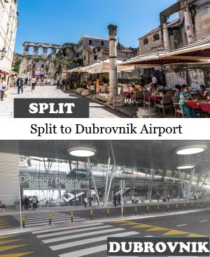 Split to Dubrovnik airport DBV