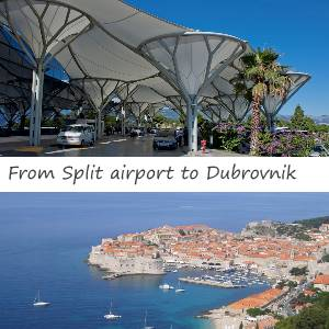 Transfer from Split airport to Dubrovnik