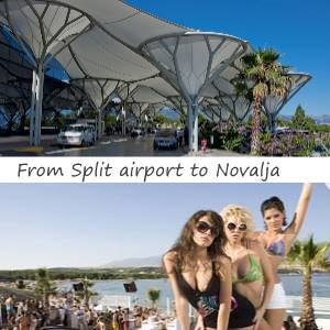 Transfer Split airport to Novalja