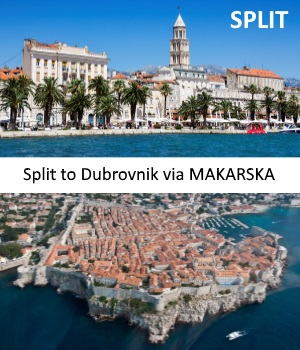 Transfer from Split to Dubrovnik with stop in Makarska