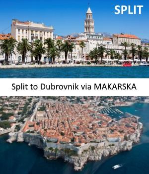 Transfer from Split to Dubrovnik with stop in Makarska