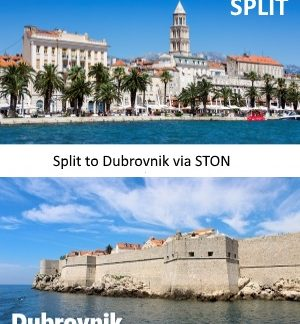 Split to Dubrovnik via Ston