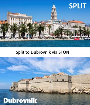 Split to Dubrovnik via Ston