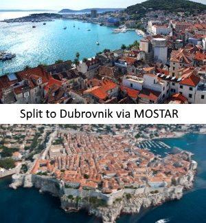 Split to Dubrovnik via Mostar