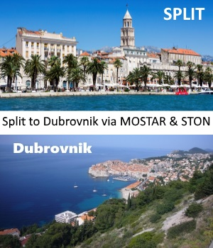 Transfer from Split to Dubrovnik with stop in Mostar and Ston