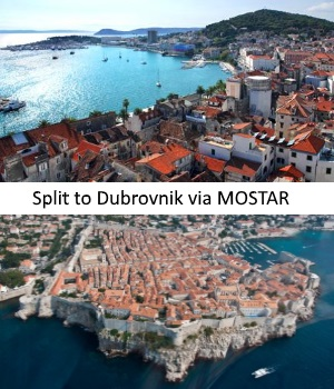 Transfer from Split to Dubrovnik with stop in Mostar