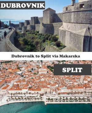 Dubrovnik to Split via Makarska