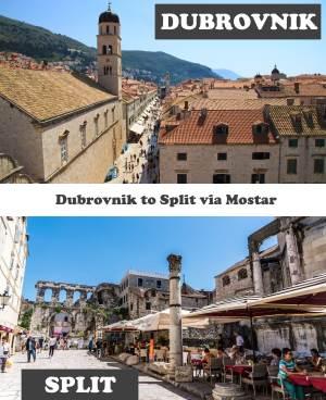 Dubrovnik to Split via Mostar